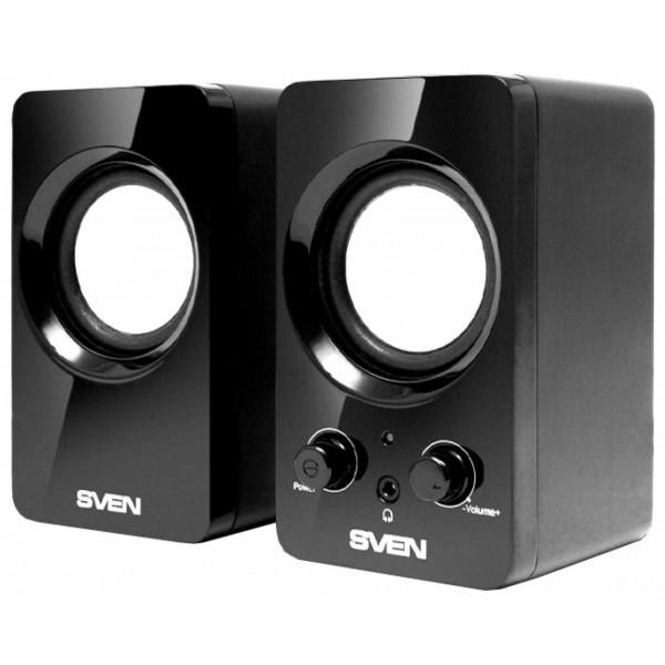 Звуковые колонки Sven 354 4 Вт, 2.0, чёрный