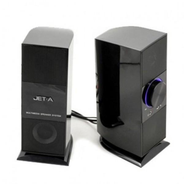 Звуковые колонки JET.A LS-02 2.0 2 X 3W RMS 80-18000Hz Active Black USB RTL