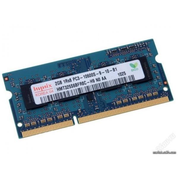 Оперативная память Hynix SODIMM DDR3 2Gb PC10660 1333MHz