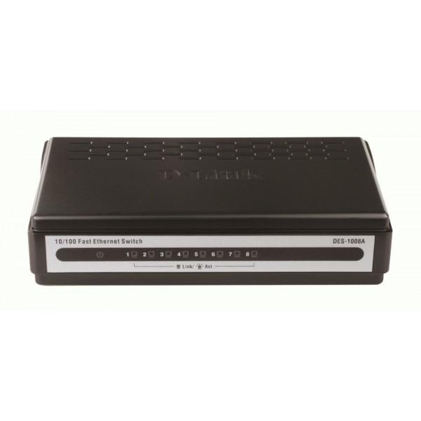 Коммутатор D-link DES-1008A неупраляемый Small case 8-port UTP 10 / 100Mbps Auto-sensing