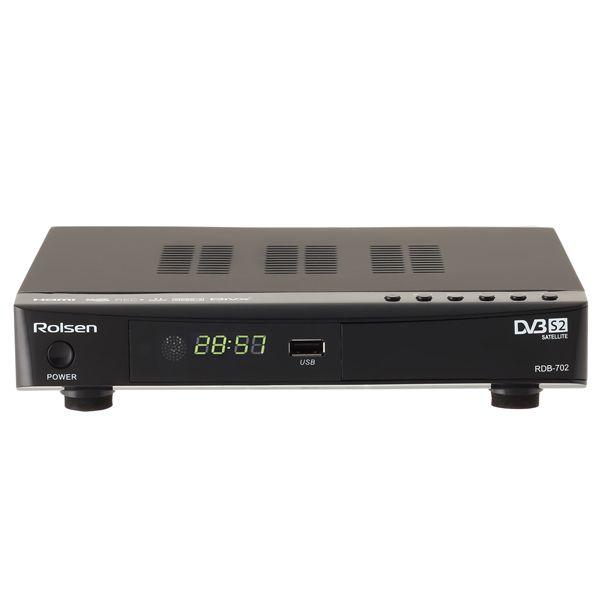 Ресивер DVB-S2 Rolsen RDB-702 Черный