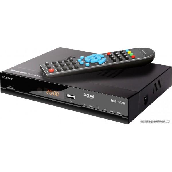 Ресивер DVB-T2 Rolsen RDB-502N