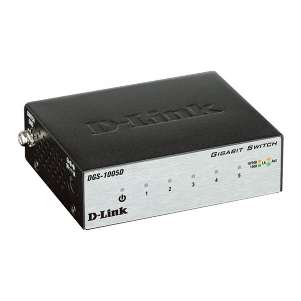 Коммутатор D-link DGS-1005D 5x10 / 100 / 1000Base-T, Unmanaged