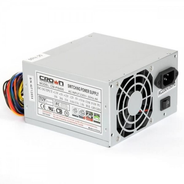 Блок питания ATX Crown 400W CM-PS-400 Plus 120mm Fan