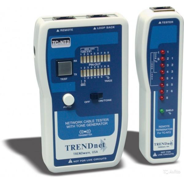 Тестер TRENDnet TC-NT2  для сетевых кабелей