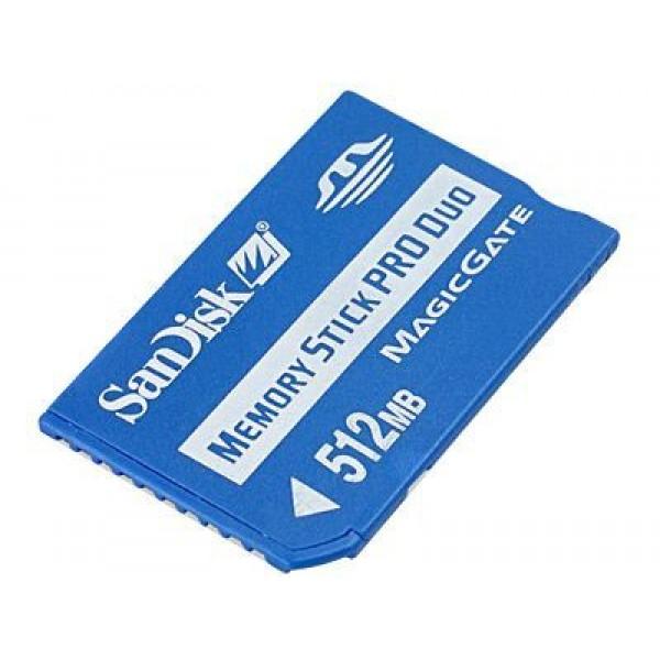 Карта памяти Memory Stick Pro Duo 512Mb Sandisk (S
