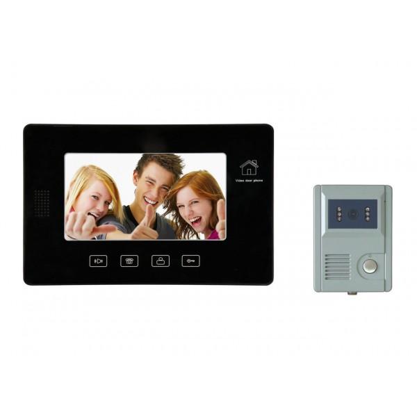 "Видеодомофон SecuEasy SE-VD960C + SE-VD01C handfree, 7""дюймов LCD, дистанционное о�..."
