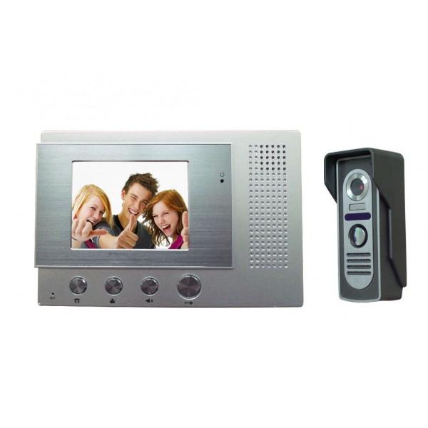 "Видеодомофон SecuEasy SE-VD8108C + SE-VD03C 4.3""дюймов LCD, дистанционное отпир..."