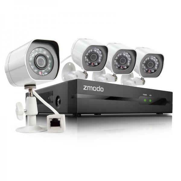 Комплект системы IP видеонаблюдения 4 Камеры 720р  All-in-One sPoE  NVR KIT ZP-KE1H...