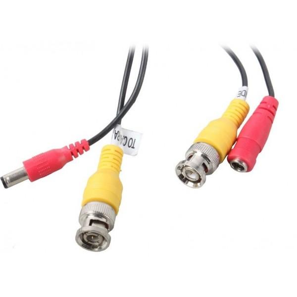 Кабель 18m cable with V/DC.Connectors:BNC(M) + DC(M) to BNC(M) + DC(F) - готовые с обжимками